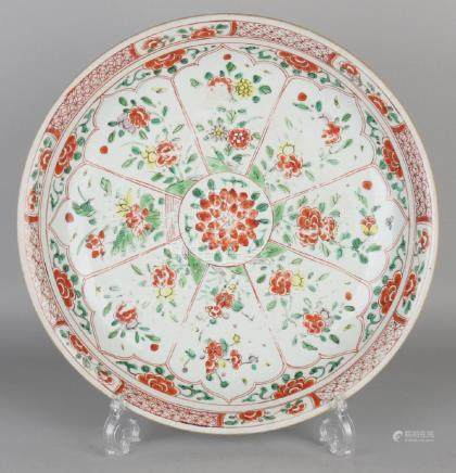 Large 18th - 19th century Chinese porcelain dish with