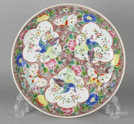 19th Century Chinese porcelain Family Rose plate with