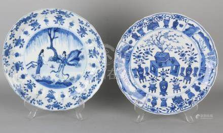 Two antique Chinese porcelain Kang Xi signs. 17th -