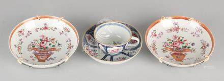 Three parts of 19th century Chinese porcelain. Two