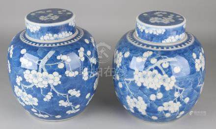 Two large antique Chinese porcelain Kang Xi branded