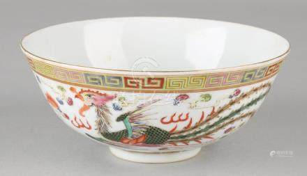 Old Chinese porcelain bowl with floor mark and dragon +