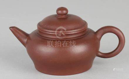 Old / antique Chinese Yixing pulling pot with floor