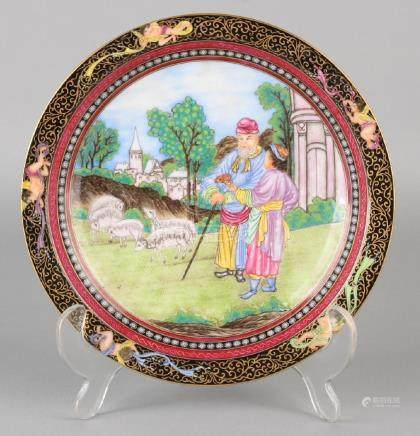 Rare old Chinese porcelain Family Rose plate with