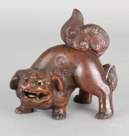 19th Century Chinese glazed terracotta Foo-dog. Nice