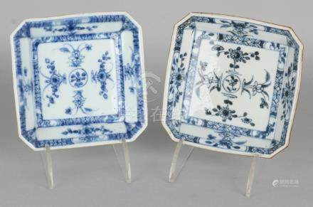 Two 18th century Chinese porcelain octagonal bowls with