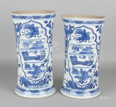 Two large old / antique Chinese porcelain vases with