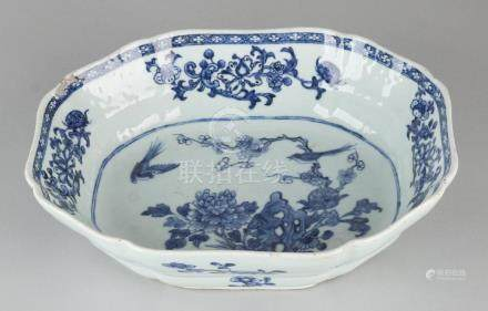 18th Century Chinese porcelain fruit bowl with garden