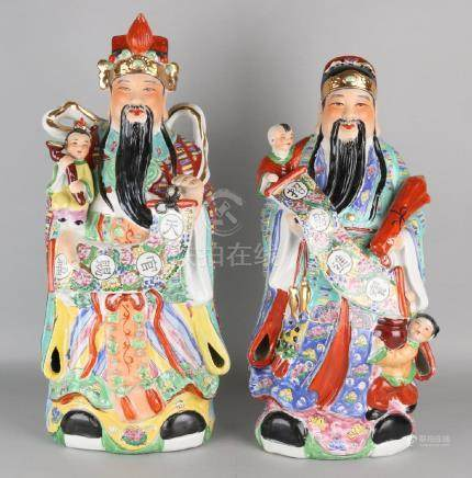 Two big old Chinese porcelain figures. Second half of