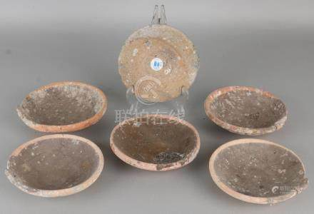 Six antique Chinese terracotta dishes Vung Tau Cargo.