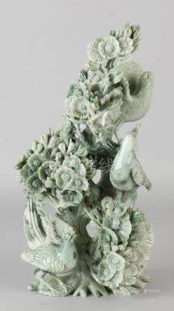 Large Chinese jade carved bird. First half of 20th