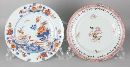 Two 18th century Chinese porcelain plates. One time