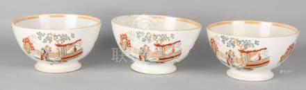 Three large Societé Ceramique Maastricht cabinet bowls