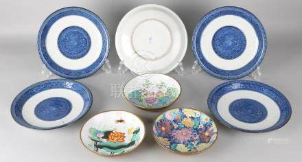 Eight times old Chinese porcelain. 20th century. Five
