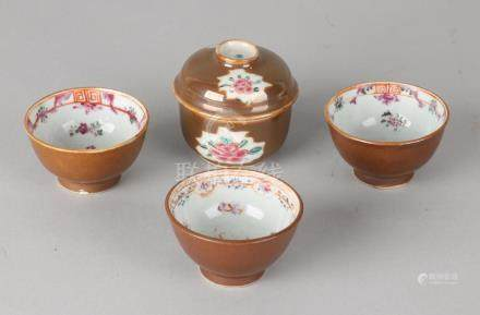 Lot of 18th century Chinese Family Rose capuciner