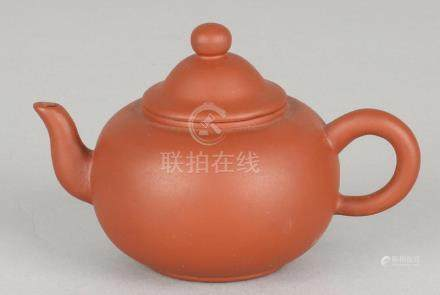 Small old Chinese Yixing pot with bottom stamp. Nice