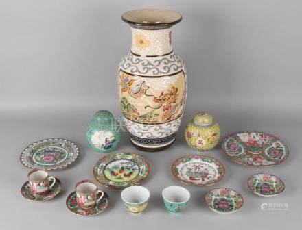 Lot of old Chinese porcelain. 20th century. Consisting