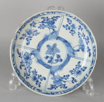 18th Century Chinese porcelain plate with floral