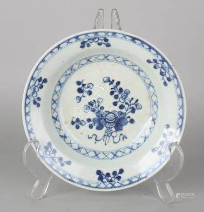 18th Century Chinese porcelain plate with floral decor.