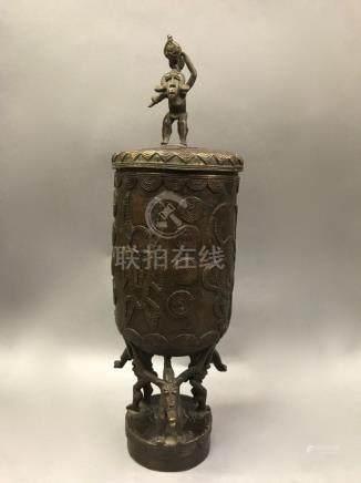 Senufo Bronze Container