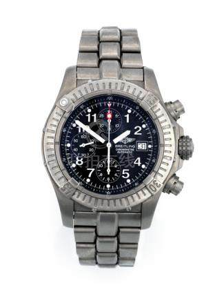 Breitling Chronograph, Ref. E13360. Automatic movement; hour, minute, second, chronograph; black dia