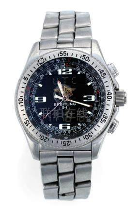 Breitling Chronomat UTC Chronograph, Ref. 81950. Quartz movement; hour, minute, second, chronograph;