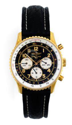 Breitling Navitimer, Ref. K30022. Automatic movement; hour, minute, second, chronograph; black dial