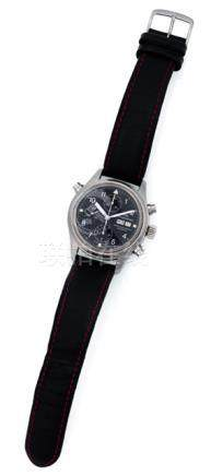 IWC, wrist watch for men with Doublechronograph. Automatic movement, hour, minute, second, chronogra