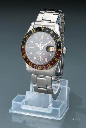 Rolex GMT Master wristwatch, ref. 6542. Switzerland, c. 1959. Movement: Rolex Automatic movement, mo