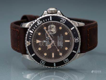 Rolex Submariner 'Tropical', ref. 16800. Switzerland, 1985. Automatic movement, caliber 3035; hour,