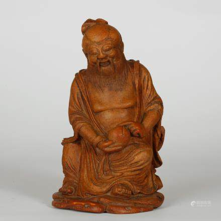 CHINESE BAMBOO CARVED LAOSHOU