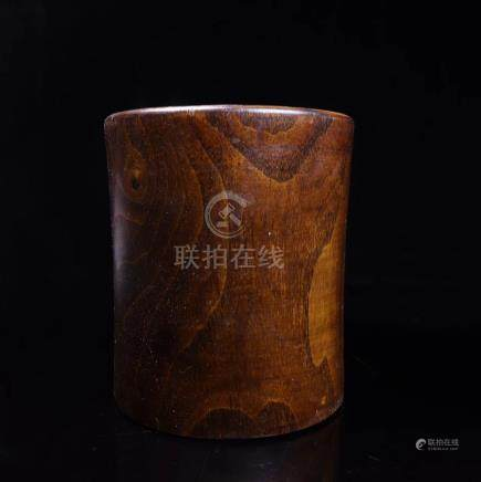 A HUANGHUA WOOD PEN HOLDER