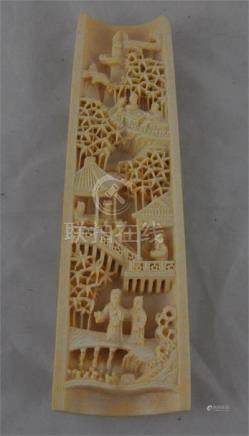 A Chinese carved ivory wrist rest, late Qing Dynasty / earlyrepublic, circa 1910-20, carved in high