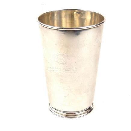 An Ottoman Turkish silver beaker cup, before 1923.