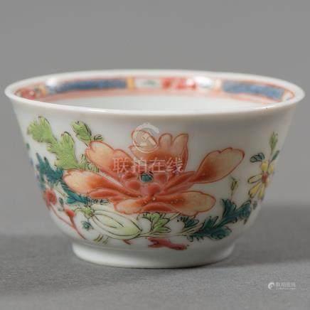 Tazita en porcelana china Compañía de Indias del siglo XVIII.
