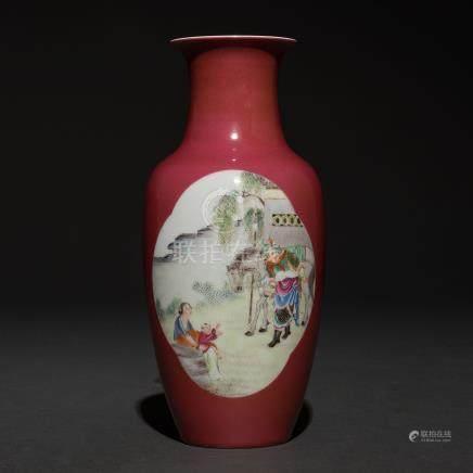 Jarrón en porcelana china. Trabajo Chino, Siglo XX