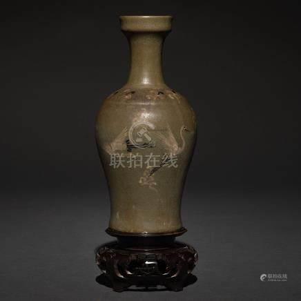 Jarrón en porcelana china de celadón, Siglo XIX