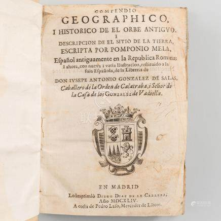 Compendio geographico i histórico de el orbe antiguo, i descripción de el sitio de la tierra.