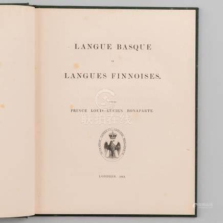 Langue Basque et langues Finnoises, par le Prince Louis-Lucien Bonaparte.