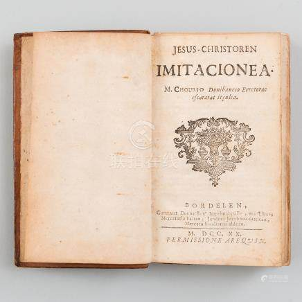 Jesús - Christoren Imitacionea- M. Chourio Donibaneco Erretorac Escararat Itculia Bordelen.