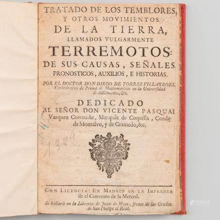 Tratado de los temblores y otros movimientos de la tierra llamados vulgarmente TERREMOTOS.