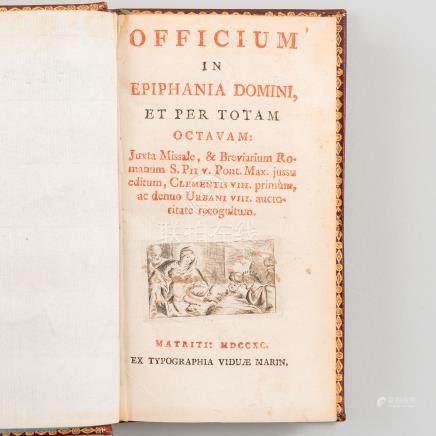 Officium in Epiphania Domini, et per totam Octavam.