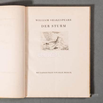 William Shakespeare-Der Sturm Im Avalun-Verlag, Wien und Leipzig.