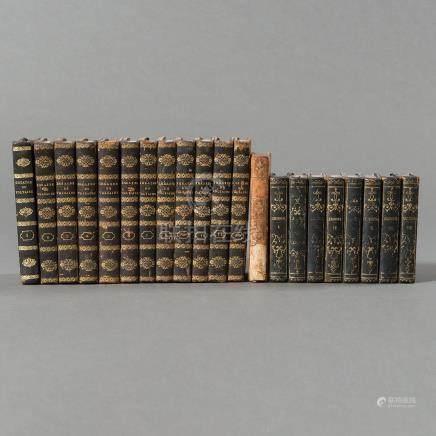 Colección de tres lotes de libros del siglo XVIII Y XIX.