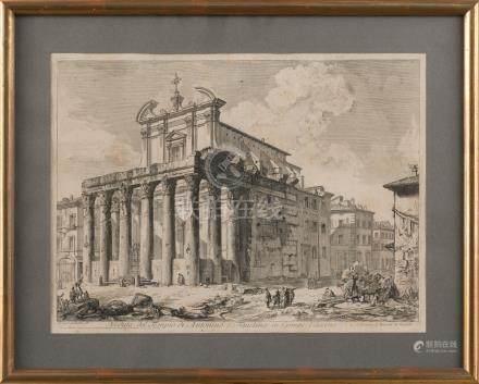 """""""Veduta del Templo di Antonio e Faustina in Campo Vaccino"""""""