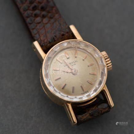Reloj de Dama marca Universal Geneve en oro amarillo de 18 Kt.