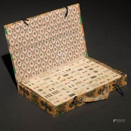 Mahjong, juego de mesa de origen chino, Siglo XIX-XX