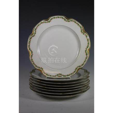 Set of Eight Haviland Limoges Plates