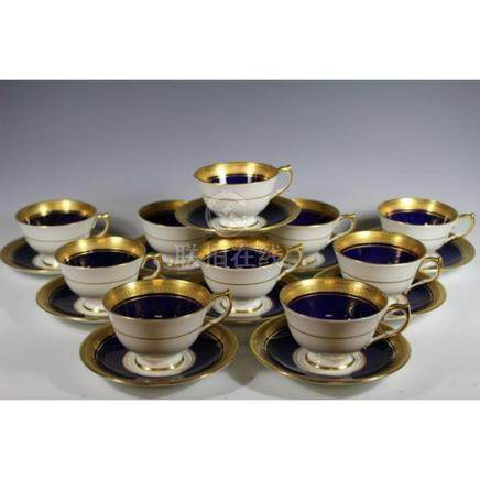 Ten Aynsley England Cups and Saucers