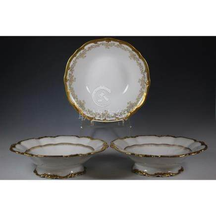Pair of French Limoges Gold Gild Bowls